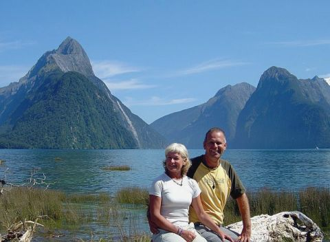 A relaxing photo taken at Milford Sound on the South Island in New Zealand. Click to enlarge.